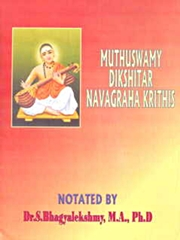 Muthuswamy Dikshitar Navagraha Krithis, Dr. S. Bhagyalekshmy, M.A., Ph.D., MUSIC Books, Vedic Books