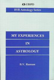 My Experiences in Astrology, B.V. Raman, JUST ARRIVED Books, Vedic Books