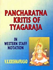 Pancharatna Kritis of Tyagaraja: In Western Staff Notation, V. K. Krishna Prasad, MUSIC Books, Vedic Books