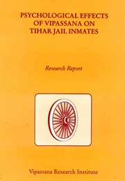 Psychological Effects of Vipassana on Tihar Jail Inmates, , MEDITATION Books, Vedic Books