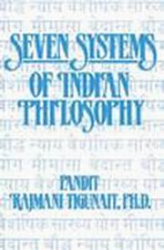 Seven Systems of Indian Philosophy, Pandit Rajmani Tigunait, PHILOSOPHY Books, Vedic Books