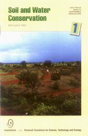 User's Manual Series on Sustainable Agriculture Soil and Water Conservation 1, Shylaja R. Rao, ORGANIC FARMING Books, Vedic Books