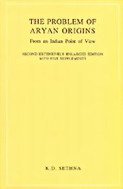 The Problem of Aryan Origins: From an Indian Point of View, K. D. Sethna, MASTERS Books, Vedic Books