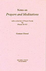 Notes on 'Prayers and Meditations', Goutam Ghosal, MASTERS Books, Vedic Books
