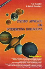 Systems Approach for Interpreting Horoscopes, Prof. V.K. Choudhry, JUST ARRIVED Books, Vedic Books