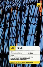 Teach Yourself Hindi (Book Only), Rupert Snell with Simon  Weightman, LANGUAGES Books, Vedic Books