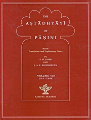 The Astadhyayi of Panini: With translation and Explanatary Notes (Volume VIII), S.D. Joshi, J.A.F. Roodbergen, SANSKRIT Books, Vedic Books