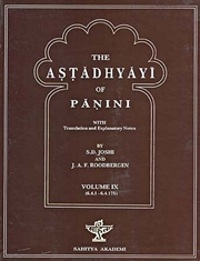 The Astadhyayi of Panini: With translation and Explanatary Notes (Volume IX), S.D. Joshi, J.A.F. Roodbergen, SANSKRIT Books, Vedic Books