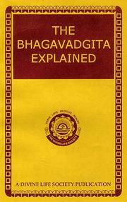 The Bhagavadgita Explained, Swami Sivananda, MASTERS Books, Vedic Books