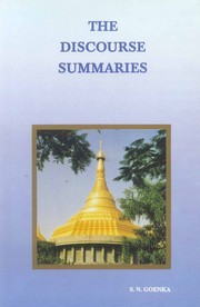 The Discourse Summaries, S N Goenka, RELIGIONS Books, Vedic Books