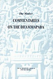 Commentaries on the Dhammapada, The Mother, MASTERS Books, Vedic Books