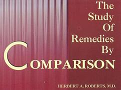 The Study of Remedies by Comparison, Robert H, HOMEOPATHY Books, Vedic Books