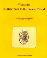 Vipassana: Its Relevance to the Present World, , MEDITATION Books, Vedic Books